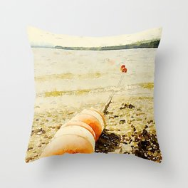 Floats, Lily Bay State Park, Maine Throw Pillow