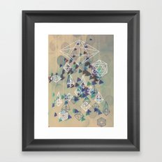 crystals Framed Art Print