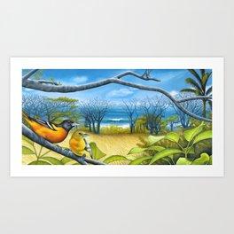Surf Report Art Print