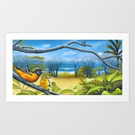 Surf Report Art Print