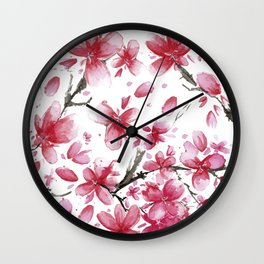 Cherry Blossoms #society6 #buyart Wall Clock