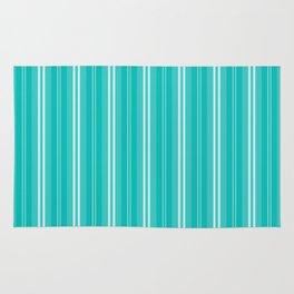 Aqua Blue Shades Pinstripes Rug