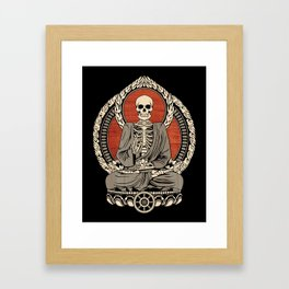 Starving Buddha Framed Art Print