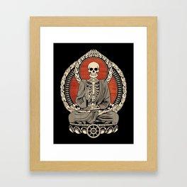 Starving Buddha Framed Art Print
