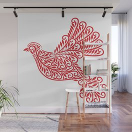 Peace Dove, Red and White Wall Mural