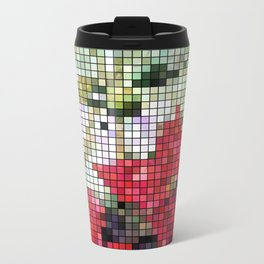 Mixed Color Poinsettias 2 Mosaic Travel Mug