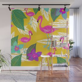 Flamingo Fantasy Wall Mural
