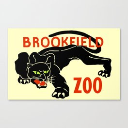 Black panther Brookfield Zoo ad Canvas Print