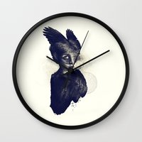 aurora Wall Clocks featuring  ♦  AURORA  ♦  by taciturn ♦ saturn