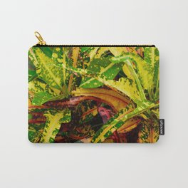 Tropical Croton Plant Carry-All Pouch