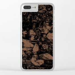 Toffee Abstract Clear iPhone Case