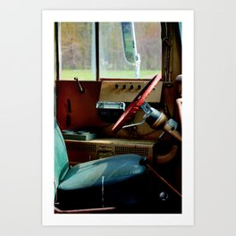 Bus Drivers Seat Art Print