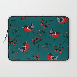 Bullfinch entering Winter Laptop Sleeve