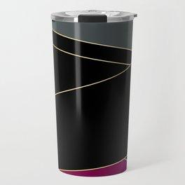 Angelica . Burgundy , gray , black Travel Mug