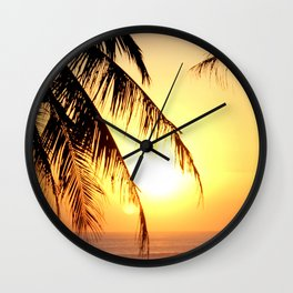 Bali Sunset 2 Wall Clock