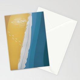 The 400 Blows, les Quatre cents coups, François Truffaut, minimalist movie poster, Jean-Pierre Léaud Stationery Cards