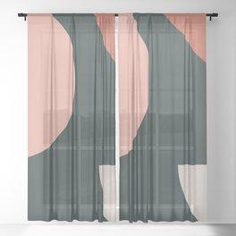 Orbit 01 Modern Geometric Sheer Curtain
