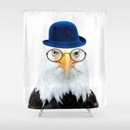 Funny Eagle Portrait Shower Curtain