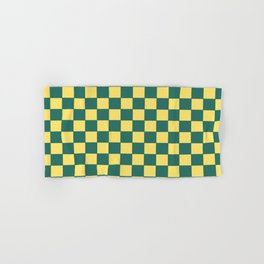 Checkers - Green and Yellow Hand & Bath Towel