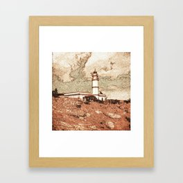 Lighthouse, Faro Ses Salines Framed Art Print