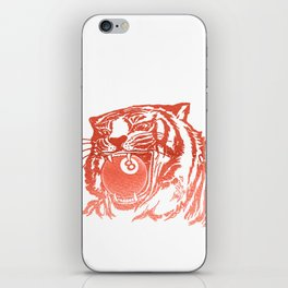 8 Ball Tiger - Red iPhone Skin