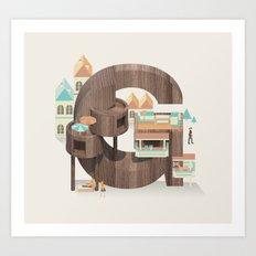 Resort Type - Letter G Art Print