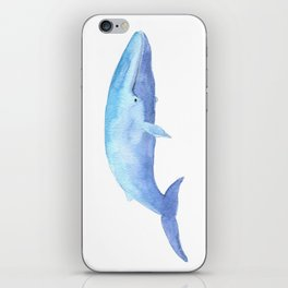 Blue Whale Watercolor iPhone Skin