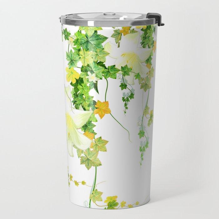 Watercolor Ivy Travel Mug