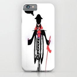 ALL DRESSED UP CARICATURE iPhone Case