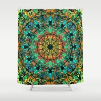 kaleidoscope Shower Curtains featuring Kaleidoscope by Klara Acel