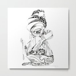 Lady dragon Metal Print