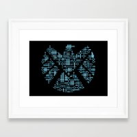 agents of shield Framed Art Prints featuring Alien Agents by Doodle Dojo