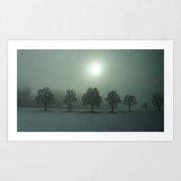 Fog & Trees, Germany Art Print