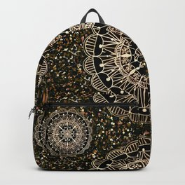 Rose Gold Mandalas with Brown and Copper Sparkles Backpack