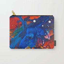 Humo, Vibrant wet on wet abstract, NYC artist Carry-All Pouch