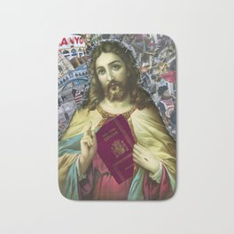 Jesus loves Refugees Bath Mat