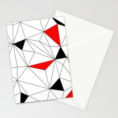 Geo - red, black and white Stationery Cards