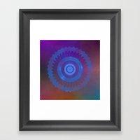 Technicolor Cosmos Blue Framed Art Print