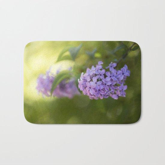 Lilac syringa in LOVE - Spring Tree Flower photography Bath Mat