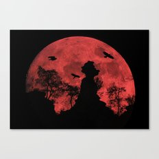 Red moon rock Canvas Print