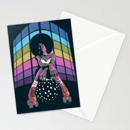 Retro Disco Roller Queen Stationery Cards