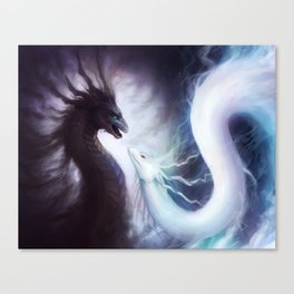 """Dragons of YIN and YANG"" Canvas Print"