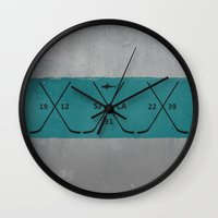 sharks Wall Clocks featuring Sharks by Last Call