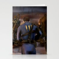 fallout Stationery Cards featuring Fallout Tribute by Hetty's Art