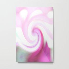 pink and teal spiral. Metal Print