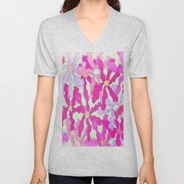 Bright and Hazy Floral Unisex V-Neck