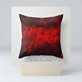 Dark Red Throw Pillow Art Print 3.0 #postmodernism #society6 #art Mini Art Print