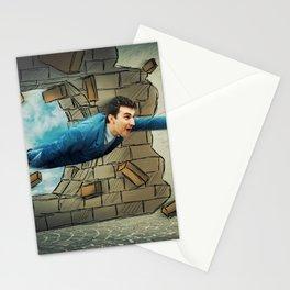 break through wall Stationery Cards