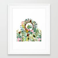 new year Framed Art Prints featuring NEW YEAR by Burcu Korkmazyurek