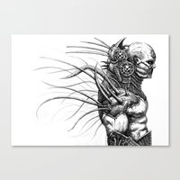 engineer Canvas Prints featuring The Engineer by Austen Mengler